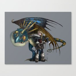 astrid & stormfly HOW TO TRAIN YOUR DRAGON 2 Canvas Print