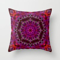 jessica lange Throw Pillows featuring Jessica by Mr. Pattern Man