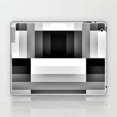 Black and WHite Gradient abstract Laptop & iPad Skin