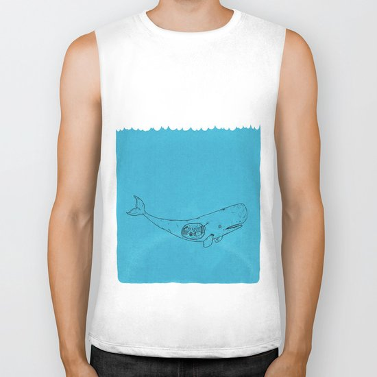 Whale Biker Tank
