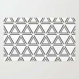 Black and White Geometric Modern Pattern Rug