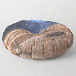 PLANET EARTH, THE UNIVERSE AND I Floor Pillow