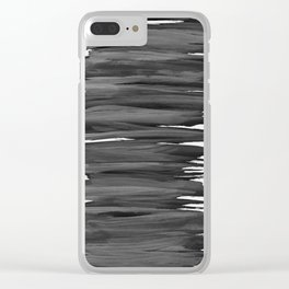 Black Abstract Minimalism #2 #minimal #ink #decor #art #society6 Clear iPhone Case