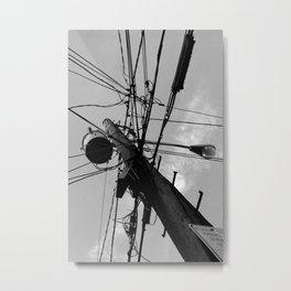 Urban spider web Metal Print