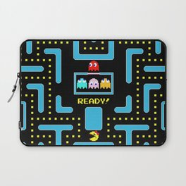 pac-man blue Laptop Sleeve
