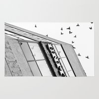broadway Area & Throw Rugs featuring Broadway Birds by XtinaYo