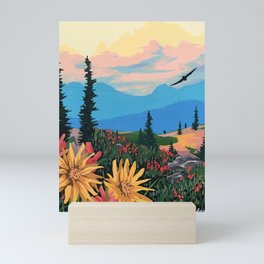 Alpine Flowers Mini Art Print