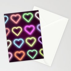Neon Love Stationery Cards