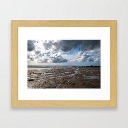 Clouds Over Bude Beach - Bude, England Framed Art Print