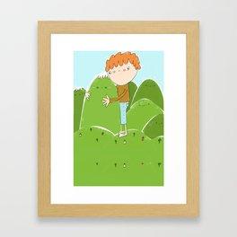 do you need a hug? Framed Art Print