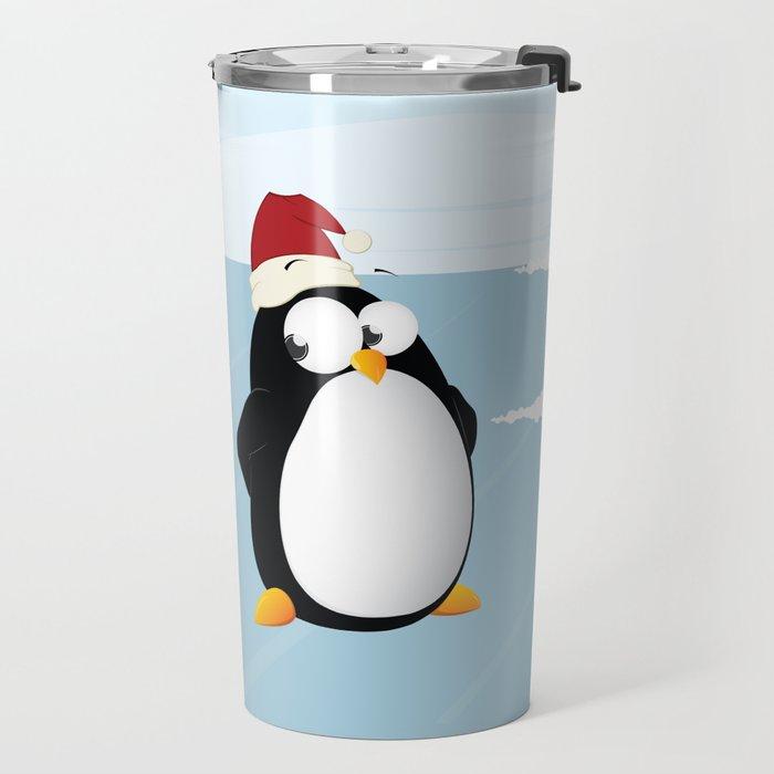 Suspicious penguin Travel Mug