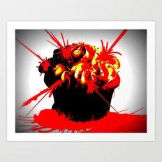 Cupcake Infection 2 Art Print