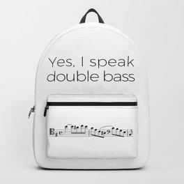 I speak double bass Backpack