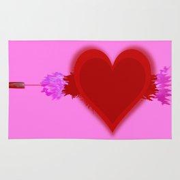 Heart Series Love Speeding bullets 2 Rug
