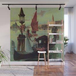 Paris Venice Victorian romantic travel Wall Mural