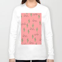 cacti Long Sleeve T-shirts featuring Cacti by Cale potts Art