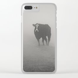 Wandering bovine above the mist Clear iPhone Case