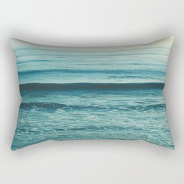 beach waves. Somewhere Rectangular Pillow