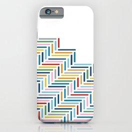 Herringbone Part Colorful iPhone Case
