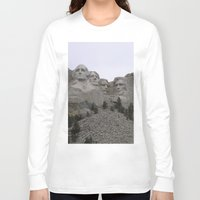 rushmore Long Sleeve T-shirts featuring Mount Rushmore National Park by Joanne Salazar