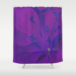 Star Gazer Lilly Up Close Solarized Colors Shower Curtain