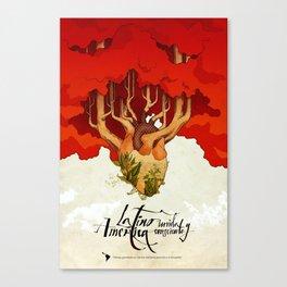 Latinoamérica Canvas Print