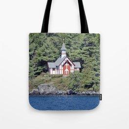 St Isaac Jogues Chapel, Hecker Island (Lake George, NY) Tote Bag