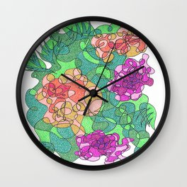 Abstract Floral #2 Wall Clock