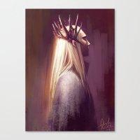 thranduil Canvas Prints featuring Thranduil by Angela Taratuta