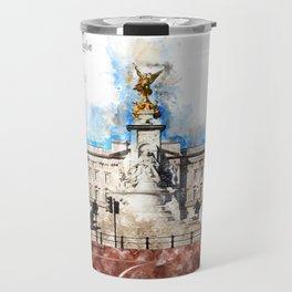 Buckingham Palace, London, Aquarell Travel Mug