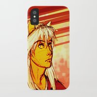 inuyasha iPhone & iPod Cases featuring Demon Eyes by ArtisteFish
