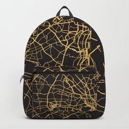 TOKYO JAPAN GOLD ON BLACK CITY MAP Backpack