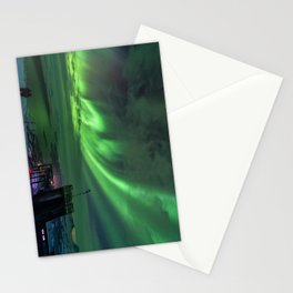 Northern Lights Mt Nouljia Sweden Stationery Cards
