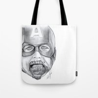avenger Tote Bags featuring Zombie Avenger by THINGS I DOODLE