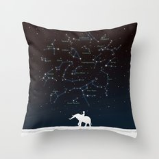 Falling star constellation Throw Pillow
