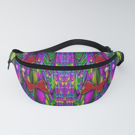 Butterflies and pearls in the rainbow forest Fanny Pack