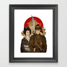 Samurai's Daughter Framed Art Print