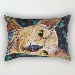 Tattooed Sphynx Rectangular Pillow