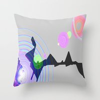 plain Throw Pillows featuring Distant Plain by Lior Blum