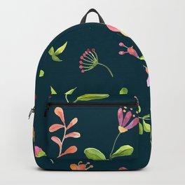 Watercolor Summer Flower Pattern Backpack