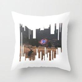 Elk Spirits Throw Pillow