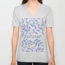 Watercolor home foliage – lilac Unisex V-Neck