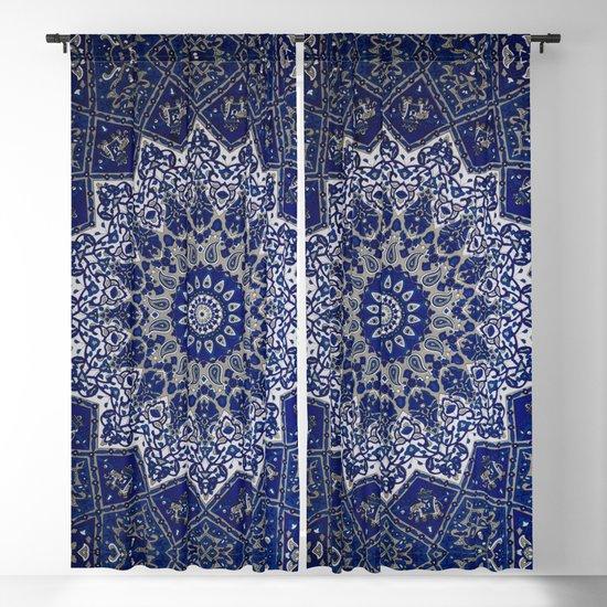 N33 - Blue Andalusian Bohemian Moroccan Mandala Artwork. by arteresting