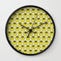 cyclops Wall Clocks featuring CYCLOPS by Wesley Bird