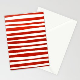 Waterline Pattern in Red Stationery Cards
