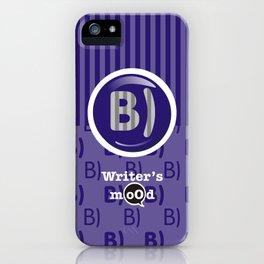 Indigo Writer's Mood iPhone Case