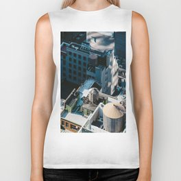 New York sky view Biker Tank