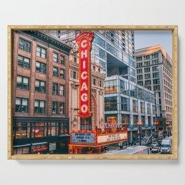 USA Photography - Chicago Gene Siskel Film Center Serving Tray
