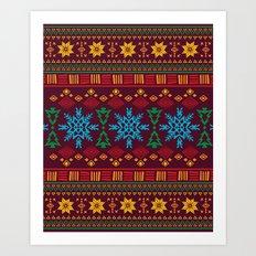 KRISMASI 3 Art Print