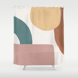 Abstract Earth 1.2 - Painted Shapes Shower Curtain